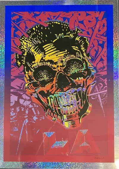 Chaz Bojorquez, 'LA Skull', 2008