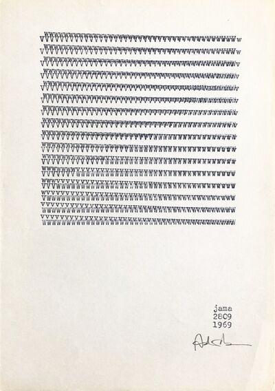 Milan Adamčiak, 'JAMA (Visual poetry)', 1969