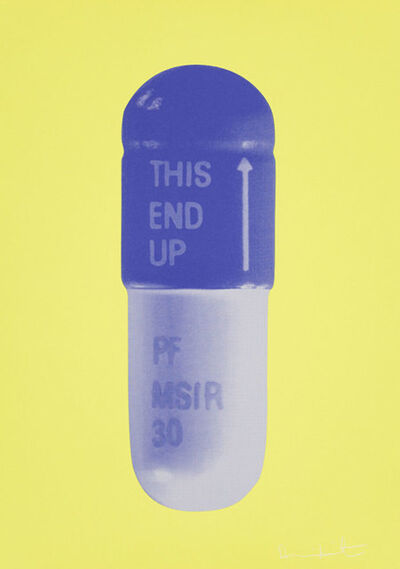 Damien Hirst, 'The Cure - Neon Yellow/French Lilac/Amethyst', 2014
