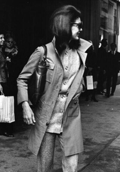 Ron Galella, 'Jackie Kennedy Onassis leaving Bonwit Teller's, New York', 1970
