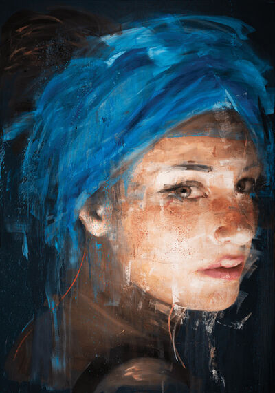 Roberta Coni, 'Giorgia with Blue Turban', 2019
