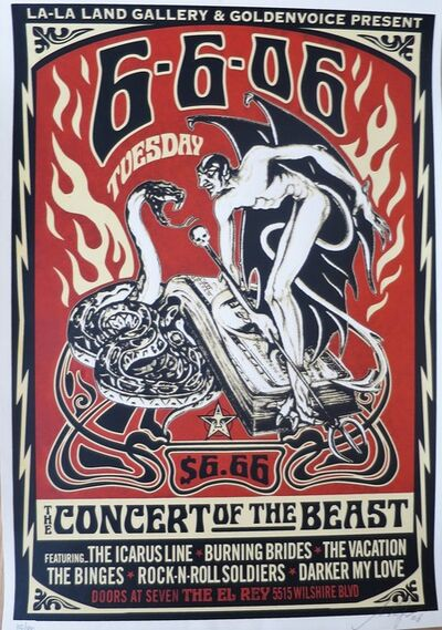 Shepard Fairey (OBEY), 'Concert of the Beast', 2018