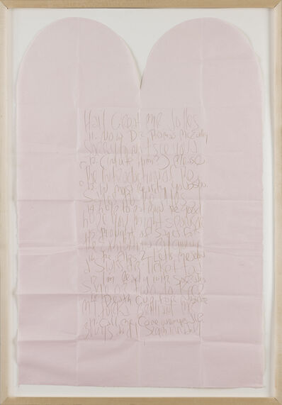 James Lee Byars, 'Letter to Jolles (Explanation of a performance with Joseph Beuys)', 1980