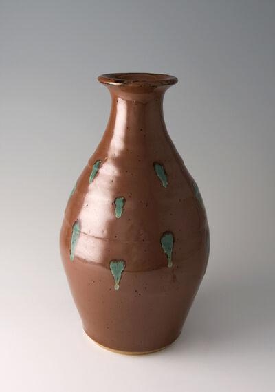 Shinsaku Hamada, 'Vase, kaki glaze'