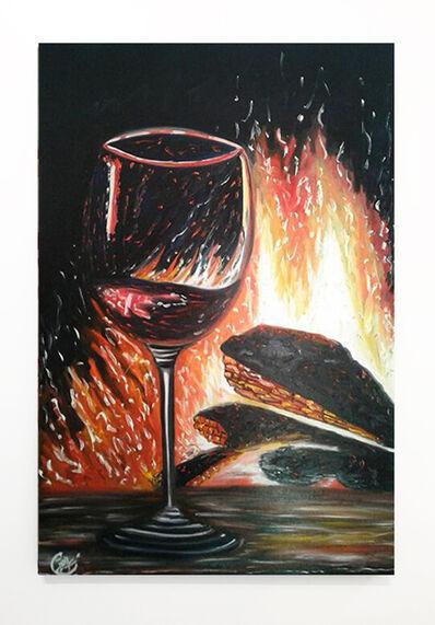 Joy Caloc, 'Au coin du feu', 2015