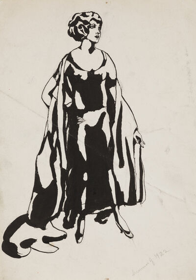 Jared French, 'Woman with Coat', 1922