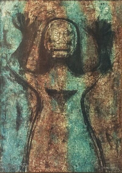 Rufino Tamayo, 'MUJER CON BRAZOS EN ALTO', 1976