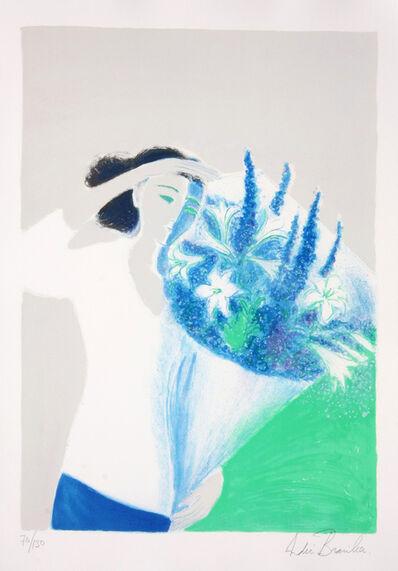 Andre Brasilier, 'Le Bouquet Bleu', ca. 1993