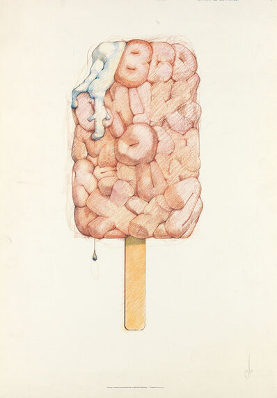 Claes Oldenburg, 'Alphabet in the Form of a Good Humor Bar', 1970
