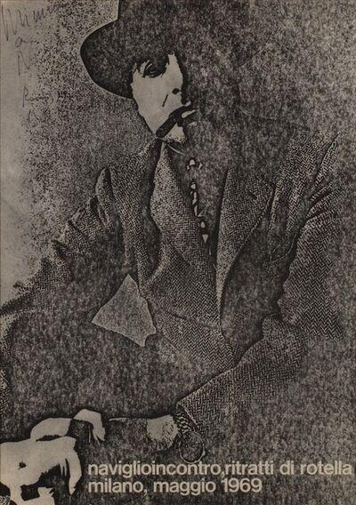 Mimmo Rotella, 'Naviglioincontro ritratti di Rotella', 1969