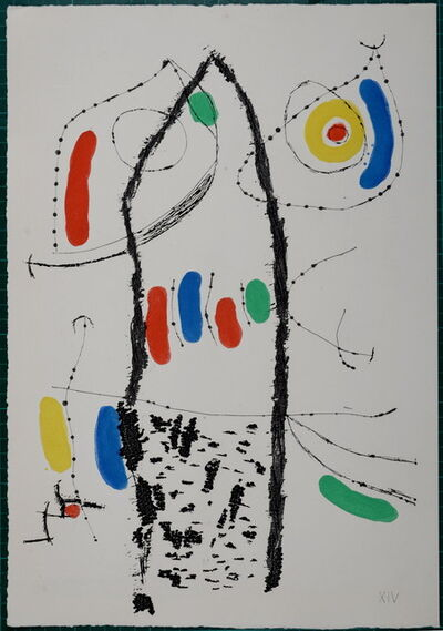 Joan Miró, 'Le Courtisan grotesque', 1974