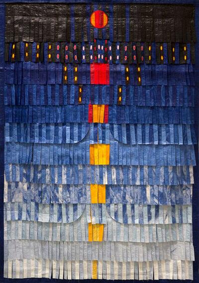 Abdoulaye Konaté, 'Composition Bleue avec Orange et Jaune', 2016