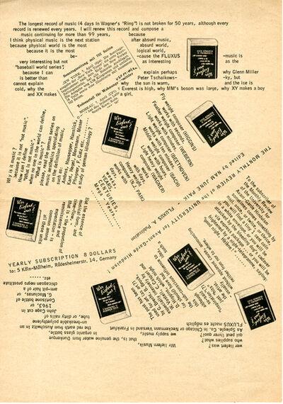Nam June Paik, 'New Ontology of Music', 1963