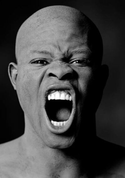 Greg Gorman, 'Djimon Screaming, Los Angeles', 1991