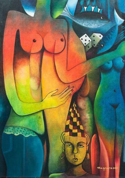 Clemente Segrera, 'Figures in a surrealist landscape'