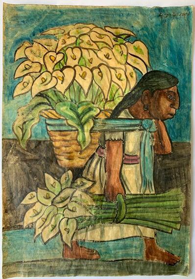 Diego Rivera, 'Vendedora de Alcatraces', 20th Century