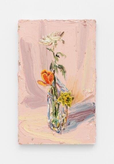 Allison Schulnik, 'Pink Flowers', 2016