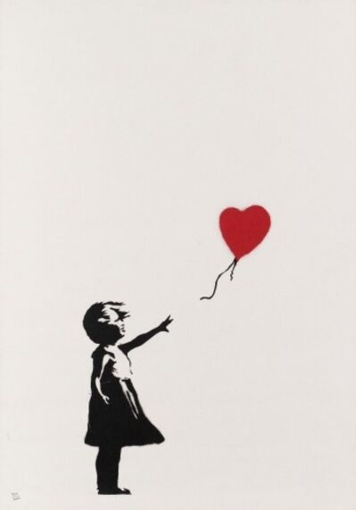 Banksy, 'Girl with Balloon Unsigned', 2004