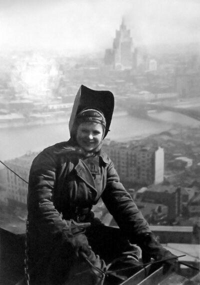 Dmitri Baltermants, 'Woman Welder, Hotel Ukraine', 1953