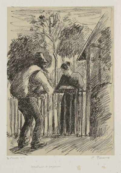 Camille Pissarro, 'Mendiant et paysanne', circa 1897