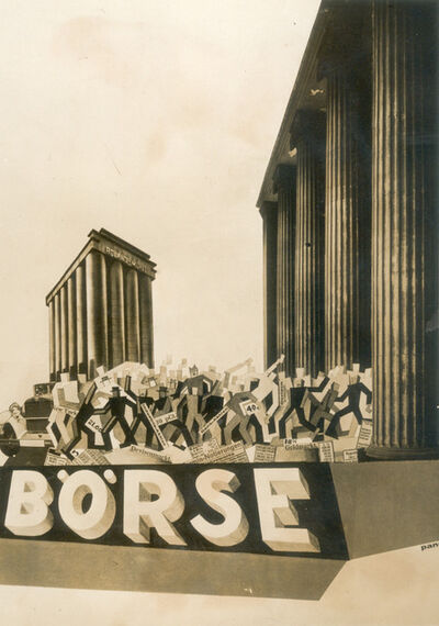 Ivo Pannaggi, 'The Berlin stock market', 1929