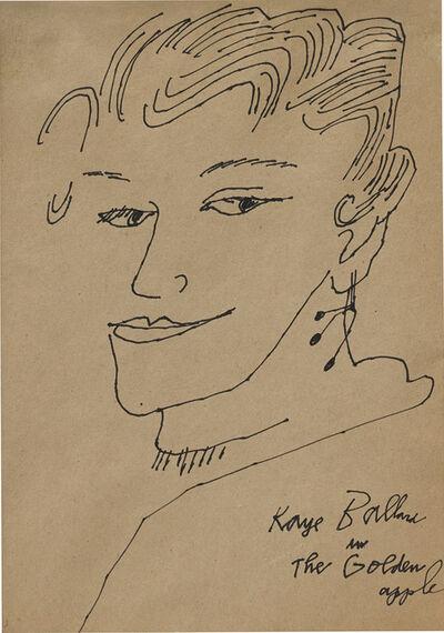 Andy Warhol, 'Kaye Ballard in the Golden Apple', 1957