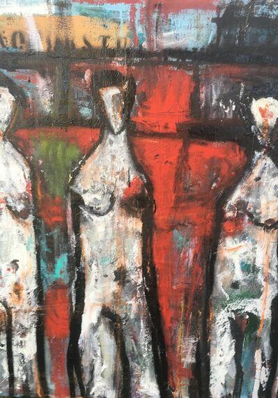 Ronald WICK Wickersham, 'Adam. Lillith. Eve. (Three Figures in Red)', 2018