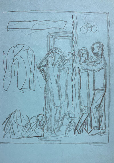 Jared French, 'Untitled (Study of Figures)', 1950