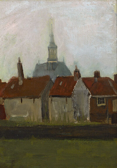 Vincent van Gogh, 'Nieuwe Kerk en Oude Huizen in Den Haag (The New Church and Old Houses in The Hague)', ca. 1883