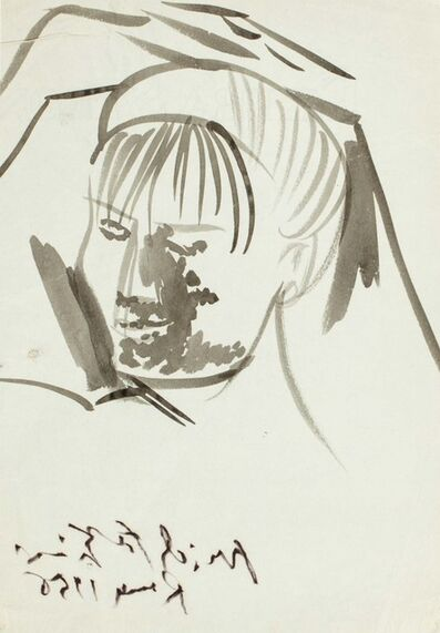 Pericle Fazzini, 'Female face', 1956