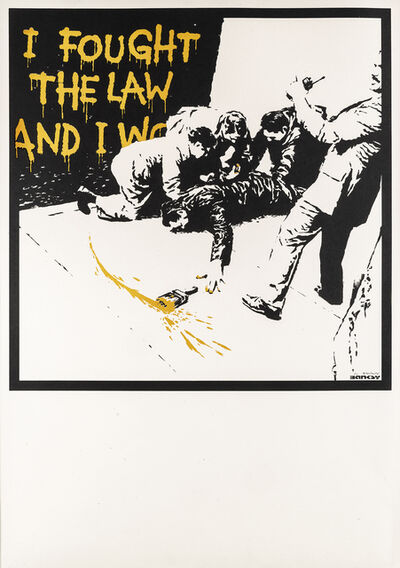 Banksy, 'I Fought The Law (Colour AP)', 2004