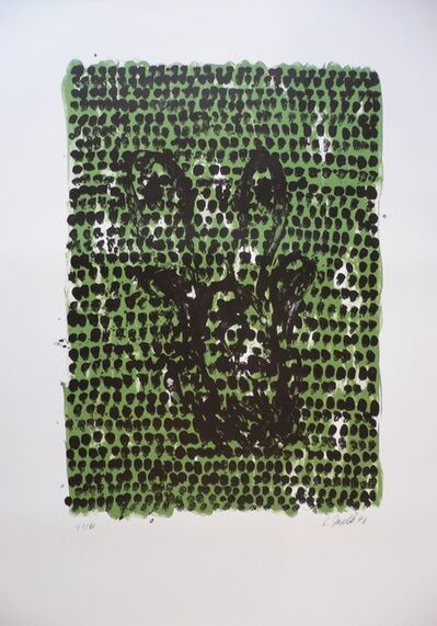 Georg Baselitz, 'Grünes Tuch (Green Cloth)', 1990
