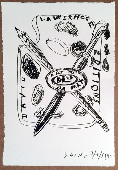 Peter Shire, 'David Lawrence Editions Design for Logo #2 Original Drawing by Peter Shire', 1990