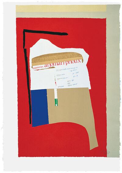 Robert Motherwell, 'America - La France Variations I', 1984