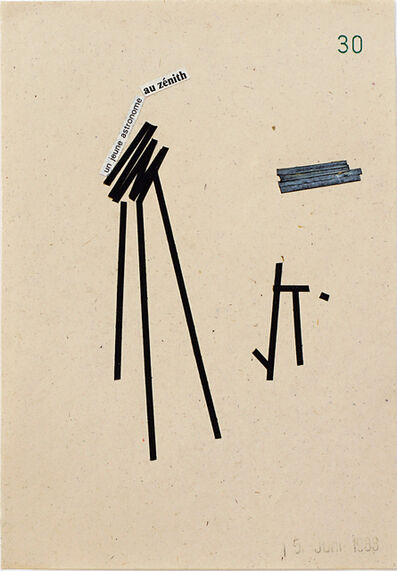 "Monika Brandmeier, '""un jeune astronome au zénith"", stamped 15. June 1983', 1983"