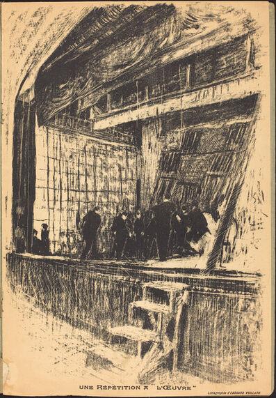 Édouard Vuillard, 'Une répétition à L'Oeuvre, Program for L'Oasis', 1903