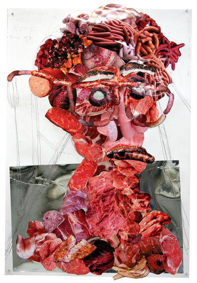 Tony Matelli, 'Meat head. Collage. (Diptych) ', 2008