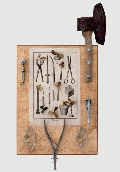 Daniel Spoerri, 'Encyclopédie de Diderot et d'Alembert, Chirurgie, PL. XXIII. (Chirurgische Instrumente mit Beil) (Surgical Instruments with Hatchet)', 1990-1995