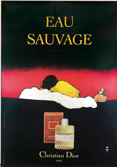 René Gruau, 'EAU SAUVAGE', ca. 1980