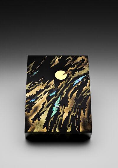 """Yoshio Okada, '""""Fleeting Clouds, Bright Moon"""" Maki-e Lacquer Box (T-4020)', 2016"""