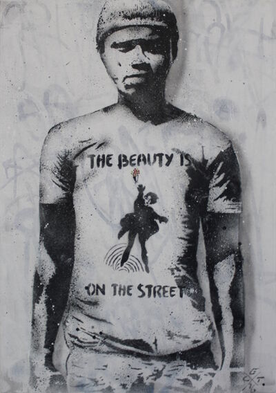 L.E.T., 'The beauty is on the street (canvas)', 2016