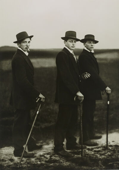 August Sander, 'I/1/3 Young Farmers', 1914