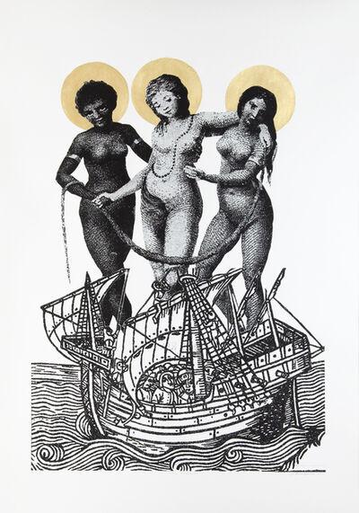 Godfried Donkor, 'THREE MADONAS', 2009