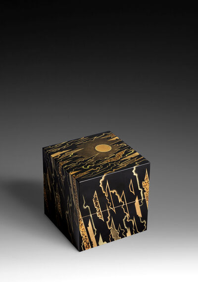 "Yoshio Okada, '""Twin Skies with Fleeting Clouds"" Dried-Lacquer Box (T-4374)'"