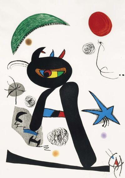 Joan Miró, 'Barbare dans la neige', 1976