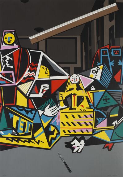 Equipo Crónica, 'Interior con regla (Serie Composiciones)', 1971