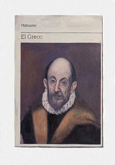 Hugh Mendes, 'Obituary: El Greco', 2018