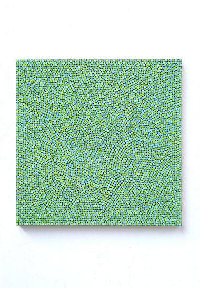 Reiner Seliger, 'Kreidebild grün-blau, groß', 2015