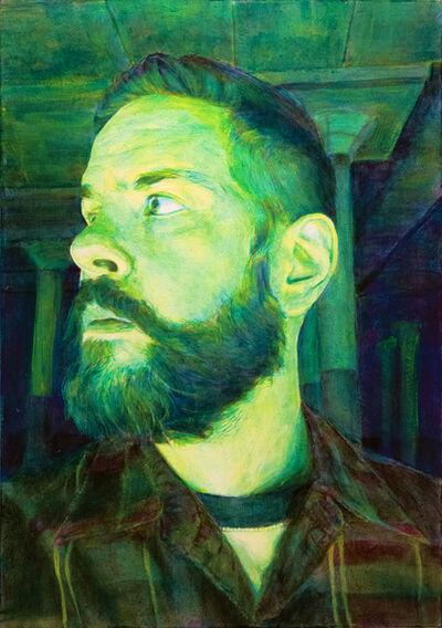 Joshua Dean, 'Standing Near a Flavin Installation (A Self Portrait)', 2016