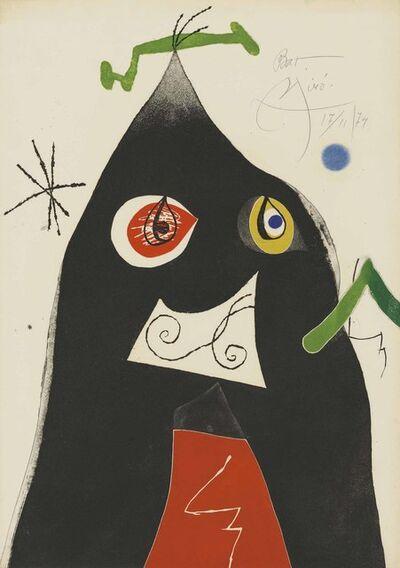 Joan Miró, 'Plate 1 from: Quatre colors aparien el món', 1974